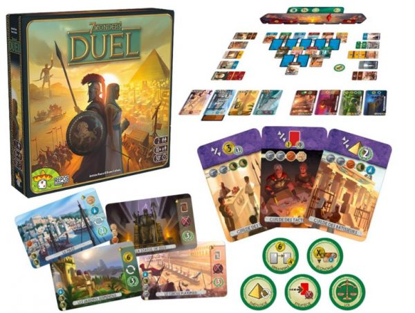 7 wonders duel board game at board game goblin